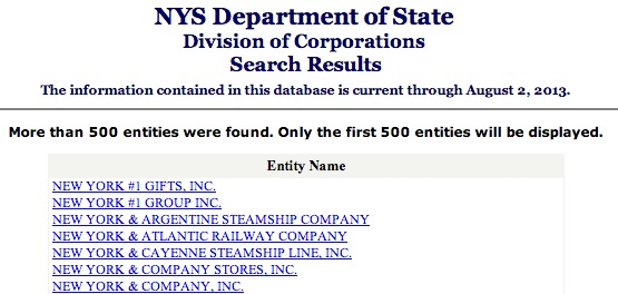 new-york-secretary-of-state-entity-results-page