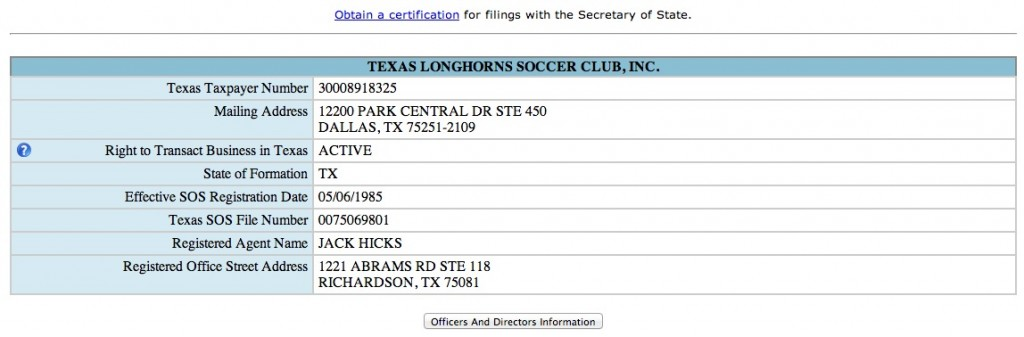 Texas Secretary Of State Tx Sos Business Search Secretary Of